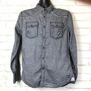 BKE Vintage line Standard fit graphic button down